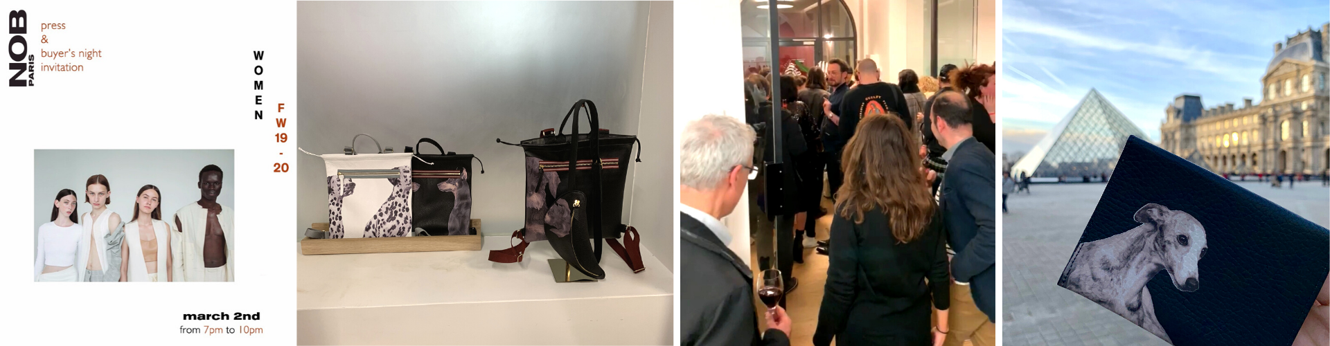 <span>NOB Showroom Paris.</span> Presentation of Pet Series Black &white Collection during Paris Fashion Week. March/2019